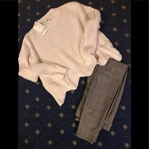 NWT Ivory Chenille Chunky knit  Sweater, L